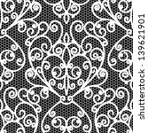 white lace seamless pattern ... | Shutterstock .eps vector #139621901