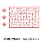 labyrinth shape design element. ... | Shutterstock .eps vector #1396221611