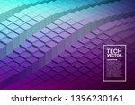 retrowave abstract vector... | Shutterstock .eps vector #1396230161