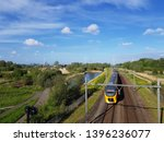 Intercity Train On Railway...