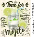 time for mojito poster. vector...   Shutterstock .eps vector #1396250147