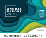 vector abstract annual report... | Shutterstock .eps vector #1396256744