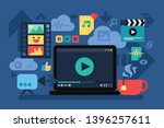 home cinema  recreation vector... | Shutterstock .eps vector #1396257611