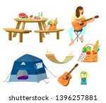 vector picnic set.picnic table  ... | Shutterstock .eps vector #1396257881