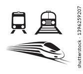 set of trains isolated  icons | Shutterstock . vector #1396259207