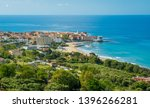 panoramic view of acciaroli and ... | Shutterstock . vector #1396266281