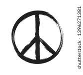 Circular Peace Sign. Hippie...