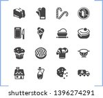 bakery icon set and dough with...