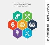 simple set of scissor  muay... | Shutterstock .eps vector #1396284401