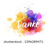 danke   thank you in german.... | Shutterstock .eps vector #1396289471