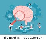 doctor examine huge brain. idea ...   Shutterstock .eps vector #1396289597