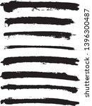 set of vector brush strokes.... | Shutterstock .eps vector #1396300487