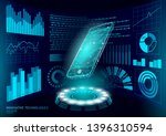 chatbot mobile smartphone 3d... | Shutterstock .eps vector #1396310594