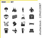 tourism icons set with laundry  ...