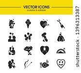 valentine icons set with ice...