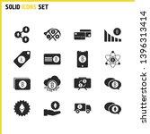 crypto icons set with ethereum...