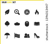 universal icons set with cloud  ...