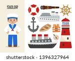 vector character sailor.... | Shutterstock .eps vector #1396327964