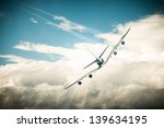 beautiful view of white plane... | Shutterstock . vector #139634195