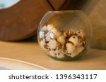 vase with natural cotton... | Shutterstock . vector #1396343117