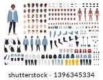 african american guy in street...   Shutterstock .eps vector #1396345334