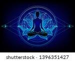 chakra concept. inner love ... | Shutterstock .eps vector #1396351427