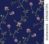 vector floral pattern flower... | Shutterstock .eps vector #1396367291