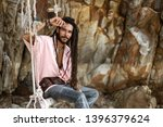 european fashion guy with... | Shutterstock . vector #1396379624
