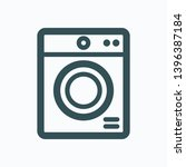 tumble dryer isolated icon ... | Shutterstock .eps vector #1396387184