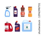 set of cleaning tools ... | Shutterstock .eps vector #1396398731