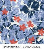 melange hibiscus flowers with...   Shutterstock .eps vector #1396403231