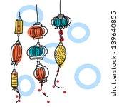 hand drawing lantern festival | Shutterstock .eps vector #139640855