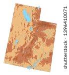 high detailed utah physical map. | Shutterstock .eps vector #1396410071