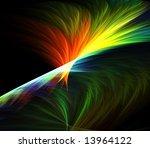 Rainbow  Multicolor  Feathery...