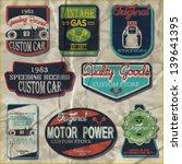 vintage gasoline retro signs... | Shutterstock .eps vector #139641395