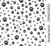 paw print pattern seamless ....   Shutterstock .eps vector #1396415051