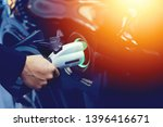 electric car  hybrid electric... | Shutterstock . vector #1396416671