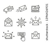email marketing campaigns icon...   Shutterstock .eps vector #1396426931
