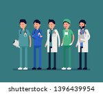 hospital people characters set. ... | Shutterstock .eps vector #1396439954