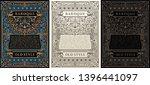 vintage set retro cards.... | Shutterstock .eps vector #1396441097