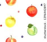 apples. pattern of fruit... | Shutterstock . vector #1396442897