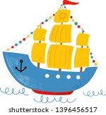 Kids Nautical Hand Drawn Vecto...