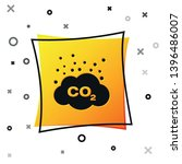black co2 emissions in cloud... | Shutterstock .eps vector #1396486007