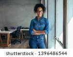 successful young female... | Shutterstock . vector #1396486544