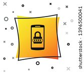 black mobile phone and password ... | Shutterstock .eps vector #1396500041