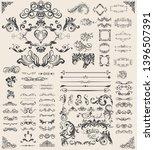 decorative swirls or scrolls ... | Shutterstock .eps vector #1396507391