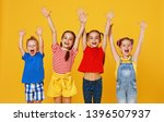 group of cheerful happy... | Shutterstock . vector #1396507937