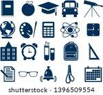 simple school icons set....