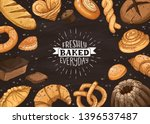 freshly baked everyday... | Shutterstock .eps vector #1396537487