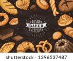 freshly baked everyday... | Shutterstock .eps vector #1396537487